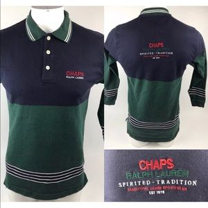 Vtg 90s Chaps Ralph Lauren Spirited-Tradition Polo